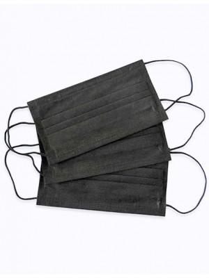 Маски 3-слойные черные