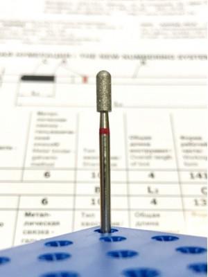 Алмазная насадка VMV-184 РОССИЯ Цилиндр 3,1 мм (красное кольцо)