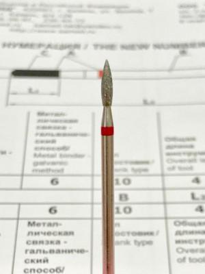243.021 Пламя острое 2.1 мм (красное кольцо)