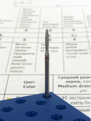 Алмазная насадка VMV-115 «Пламя скругленное 1,8мм» РОССИЯ