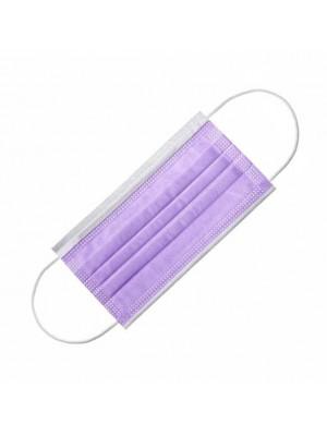 Маска 4-х слойная фиолетовая , 1 штука